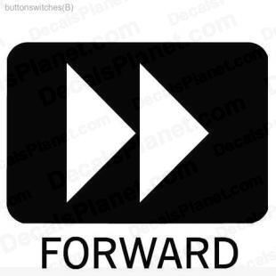 Forward button listed in useful signs decals.