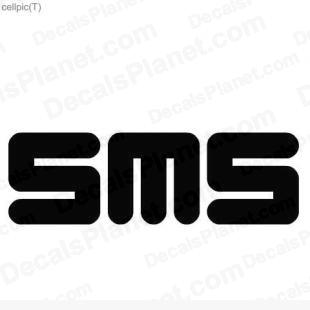 SMS text message symbol listed in useful signs decals.