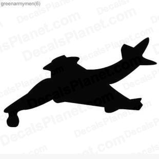 Army fighter jet listed in other decals.
