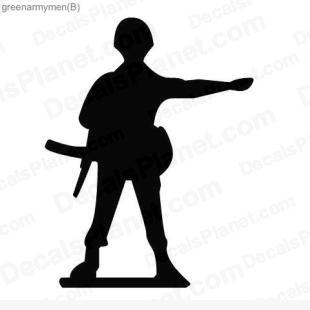 Army rifleman  listed in other decals.