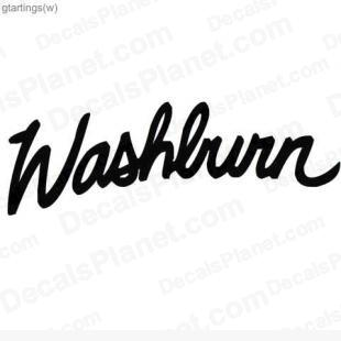 Washburn logo listed in music and bands decals.
