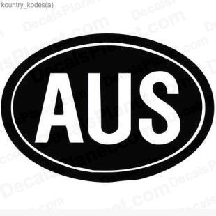 Australia country sign listed in useful signs decals.