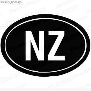New Zealand country sign listed in useful signs decals.