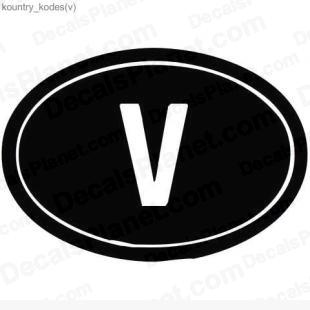 V country sign listed in useful signs decals.