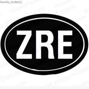 Zaire country sign listed in useful signs decals.