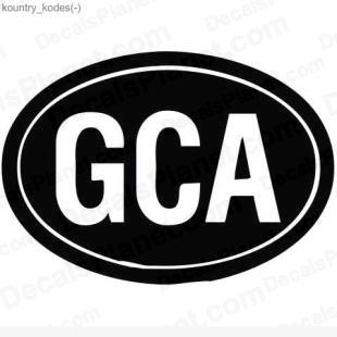 GCA country sign listed in useful signs decals.