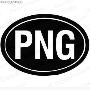 Papua New Guinea country sign listed in useful signs decals.