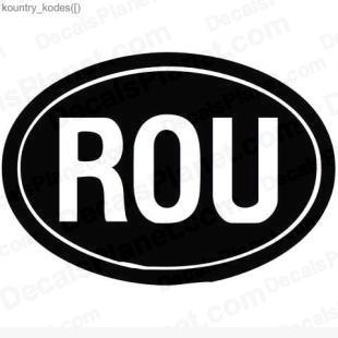 ROU country sign listed in useful signs decals.