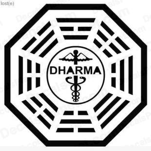 Lost Dharma logo 6 listed in other decals.