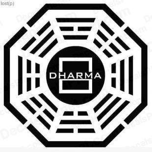 Lost Dharma logo 9 listed in other decals.