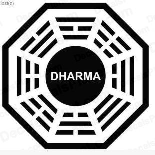 Lost Dharma logo 10 listed in other decals.
