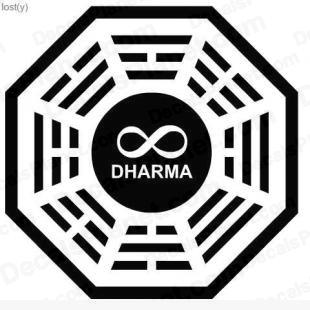 Lost Dharma logo 11 listed in other decals.