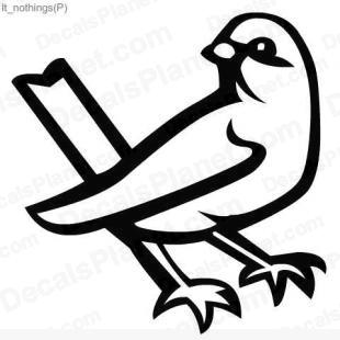 Bird listed in animals decals.