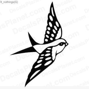 Flying bird listed in animals decals.