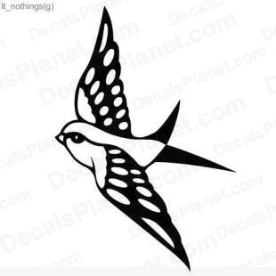 Flying bird (reversed) listed in animals decals.