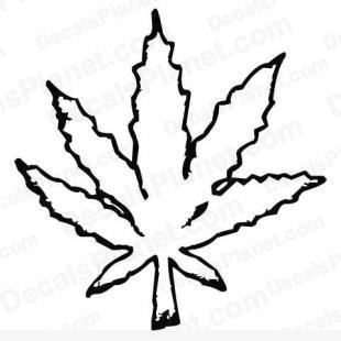 Weed leaf (pot leaf) listed in cartoons decals.