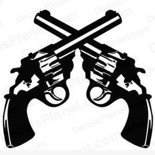 Dual revolver (Two revolvers) listed in cartoons decals.