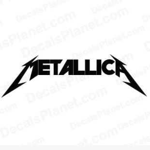Metallica listed in music and bands decals.