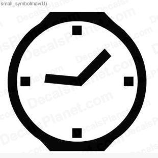 Clock listed in other decals.