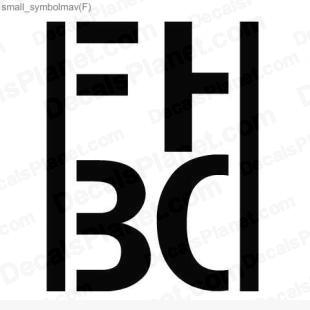 FHBD logo listed in other decals.