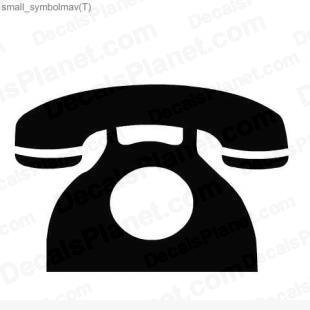 Phone (late old model) sign decal, vinyl decal sticker, wall decal - Decals Ground