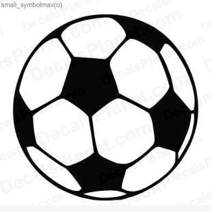 Soccer ball listed in sports decals.