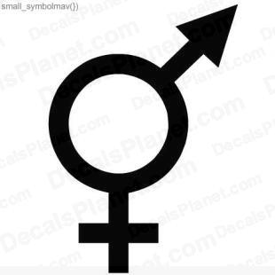 Boy girl symbol (male and female) listed in funny decals.
