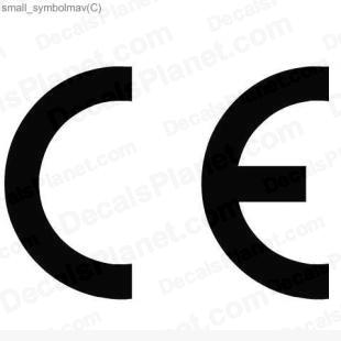 CE European Conformity listed in useful signs decals.