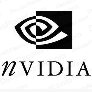 Nvidia modern logo listed in computer decals.