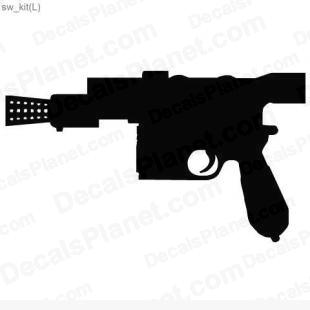 Star Wars Blaster 1 listed in cartoons decals.