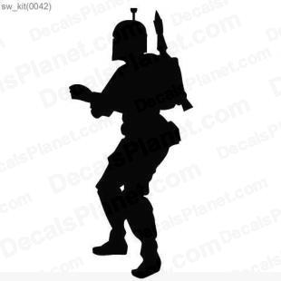 Star Wars Boba Fett listed in cartoons decals.