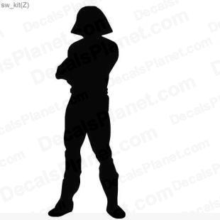 Star Wars character 4 listed in cartoons decals.