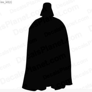 Star Wars Darth Vader listed in cartoons decals.