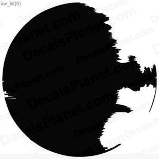 Star Wars DeathStar listed in cartoons decals.