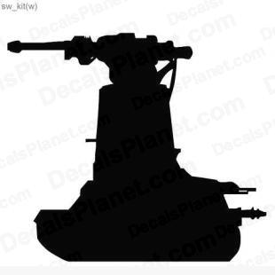 Star Wars gun turret 3 listed in cartoons decals.