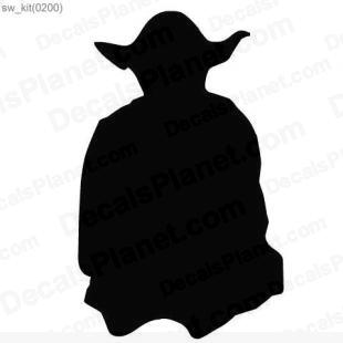 Star Wars Master Yoda listed in cartoons decals.