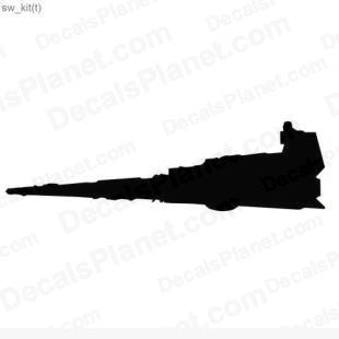 Star Wars ship 6 listed in cartoons decals.
