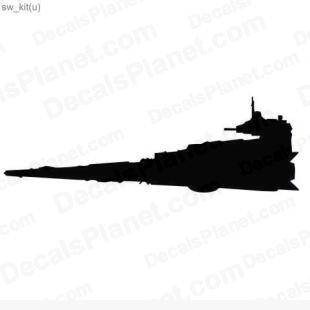 Star Wars ship 7 listed in cartoons decals.