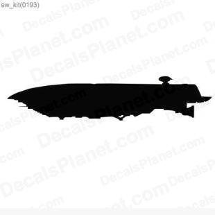 Star Wars ship 25 listed in cartoons decals.