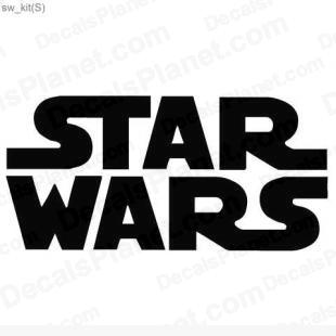 Star Wars logo listed in popular logos decals.