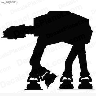Star Wars AT-AT walker listed in cartoons decals.