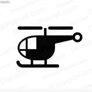Helicopter listed in useful signs decals.