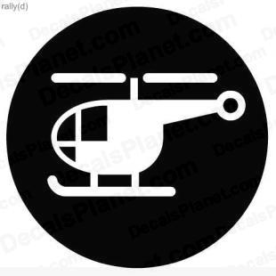 Helicopter sign listed in useful signs decals.
