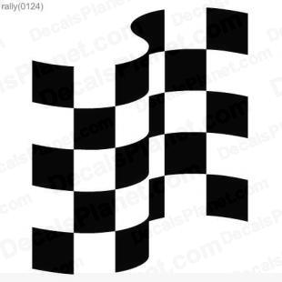Racing flag listed in useful signs decals.