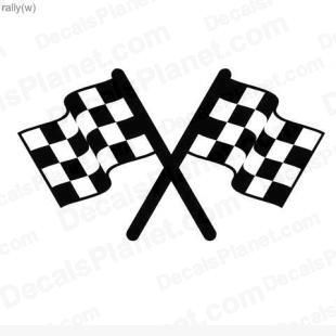 Racing flags listed in useful signs decals.
