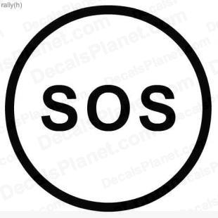 SOS road sign listed in useful signs decals.