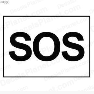 SOS sign listed in useful signs decals.