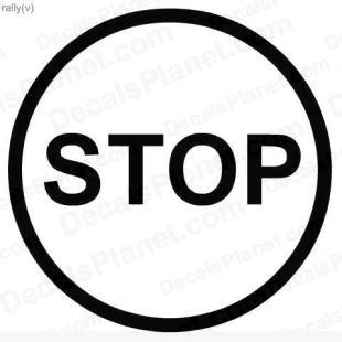 Simple Stop sign listed in useful signs decals.