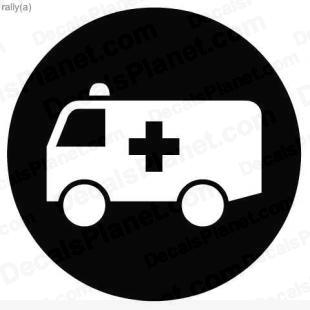Ambulance sign listed in useful signs decals.