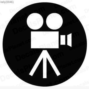 Filming camera sign listed in useful signs decals.